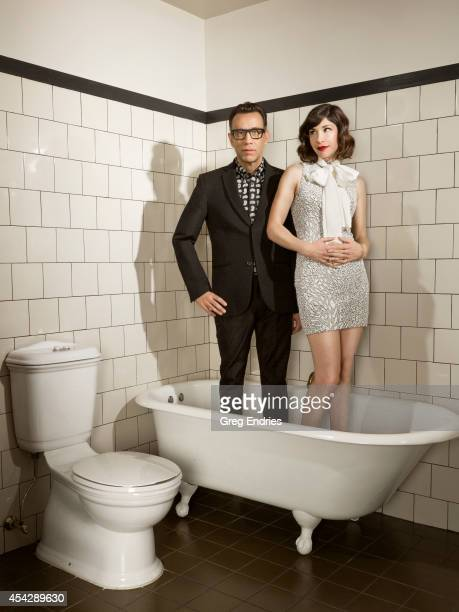Actors Fred Armisen and Carrie Brownstein are photographed for Emmy Magazine on February 27 in New York City PUBLISHED IMAGE