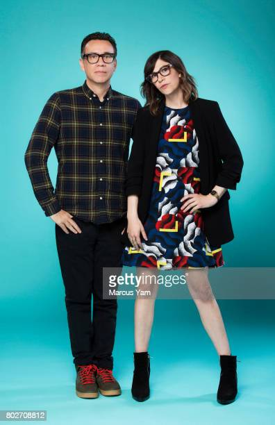 Actors Fred Armisen and Carrie Brownstein are photographed for Los Angeles Times on June 15 2017 in Los Angeles California PUBLISHED IMAGE CREDIT...