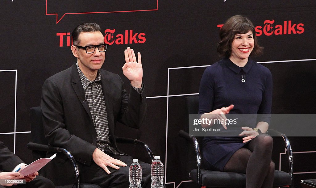 Actors Fred Armisen and Carrie Brownstein attend New York Times TimesTalks Presents: 'Portlandia' at TheTimesCenter on January 28, 2013 in New York City.