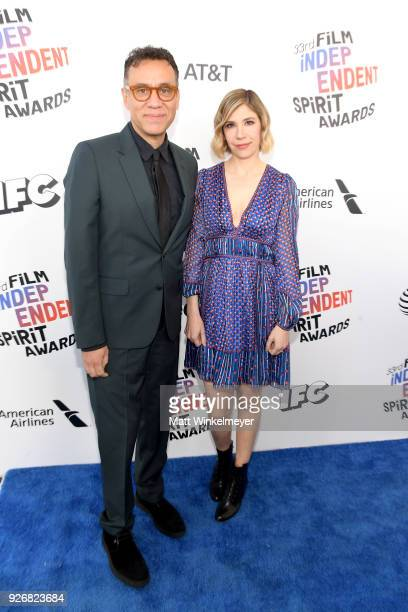 Actors Fred Armisen and Carrie Brownstein attend the 2018 Film Independent Spirit Awards on March 3 2018 in Santa Monica California
