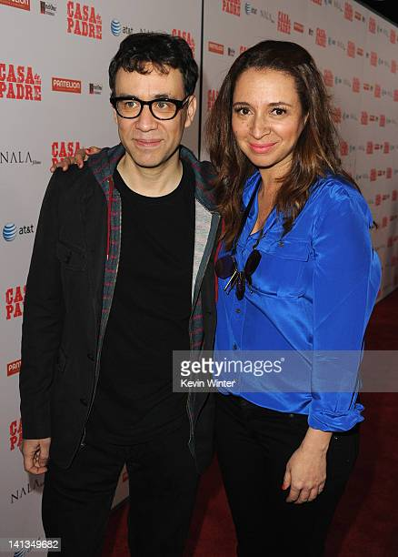 Actors Fred Armisen and Maya Rudolph arrive at Premiere of Pantelion Films' Casa De Mi Padre at Grauman's Chinese Theatre on March 14 2012 in...