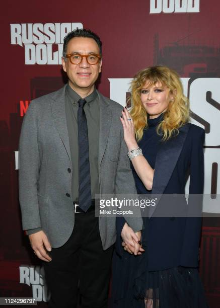 """Actors Fred Armisen and Natasha Lyonne attend Netflix's """"Russian Doll"""" Season 1 Premiere at Metrograph on January 23, 2019 in New York City."""