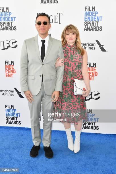 Actors Fred Armisen and Natasha Lyonne attend the 2017 Film Independent Spirit Awards on February 25 2017 in Santa Monica California