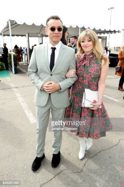 Actors Fred Armisen and Natasha Lyonne attend the 32nd Annual Film Independent Spirit Awards sponsored by FIJI Water at Santa Monica Pier on February...