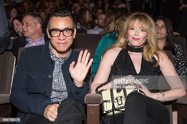 Actors Fred Armisen and Natasha Lyonne attend the 'Other People' New York Screening at Dolby 88 Theater on September 6 2016 in New York City
