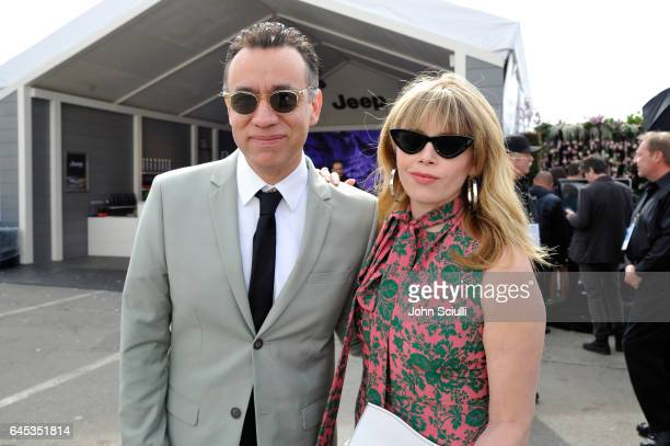 Actors Fred Armisen and Natasha Lyonne visit the Jeep booth at the 2017 Film Independent Spirit Awards sponsored by Jeep at Santa Monica Pier on...