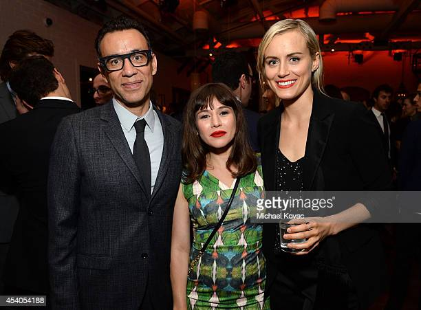Actors Fred Armisen Yael Stone and Taylor Schilling attend Variety and Women in Film Emmy Nominee Celebration powered by Samsung Galaxy on August 23...