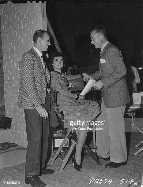 Actors Fred Astaire and Paulette Goddard for Paramount Pictures on the set of the movie 'Second Chorus' 1940