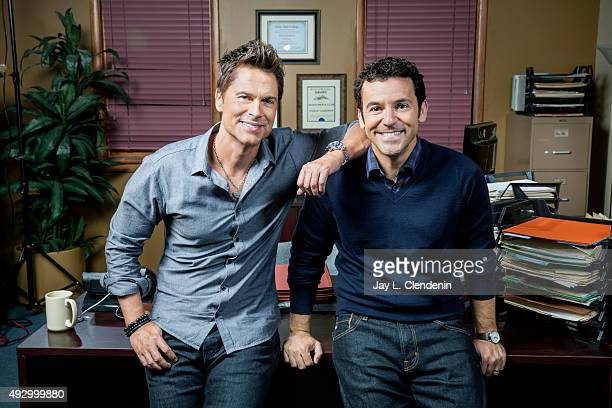 Actors Fred Savage and Rob Lowe are photographed for Los Angeles Times on August 26 2015 in Los Angeles California PUBLISHED IMAGE CREDIT MUST READ...