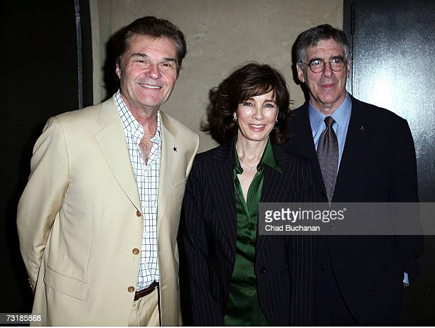 Actors Fred Willard Anne Archer and Elliott Gould attend the 21st annual Charlie Awards at the Roosevelt Hotel on February 2 2007 in Los Angeles...