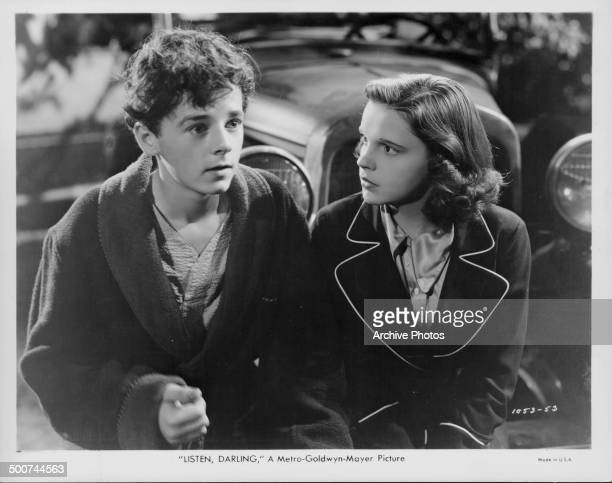 Actors Freddie Bartholomew and Judy Garland in a scene from the movie 'Listen Darling' 1938