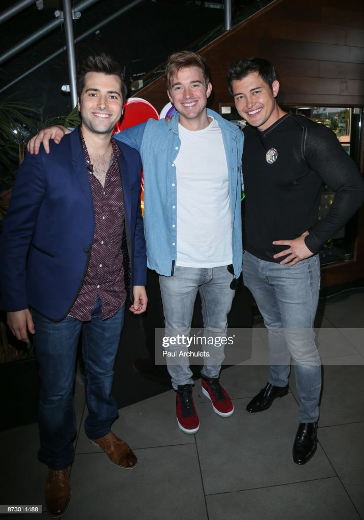 Actors Freddie Smith, Chandler Massey and Christopher Sean attends the 'Day Of Days' a very special 'Days Of Our Lives' fan event at Universal CityWalk on November 11, 2017 in Universal City, California.