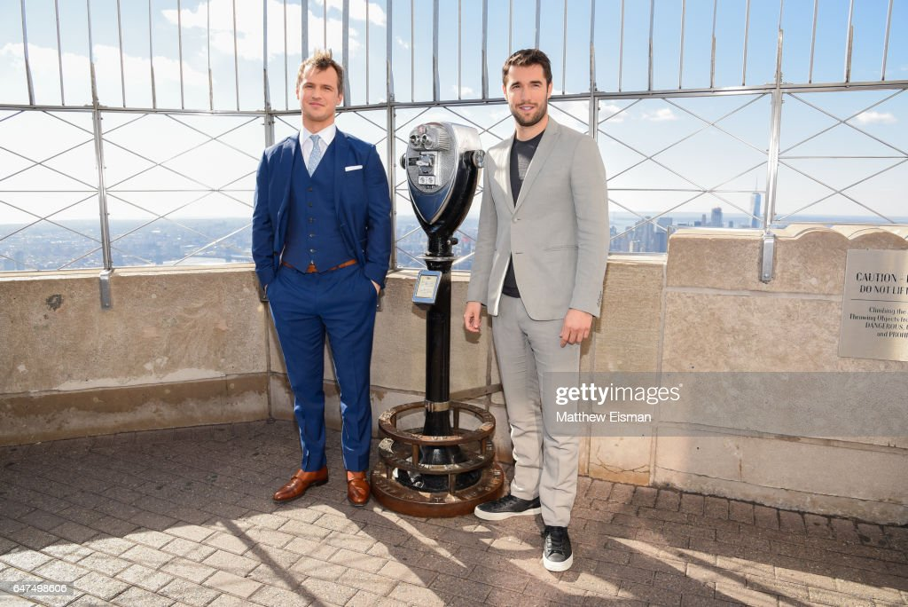 "ABC's ""Time After Time"" Stars Freddie Stroma & Josh Bowman Visit The Empire State Building"