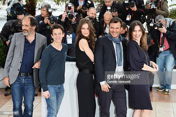 Actors Frederic Pierrot, Fantin Ravat, Marine Vacth, director Francois Ozon and actress Geraldine Pailhas attend the photocall for 'Jeune & Jolie'...