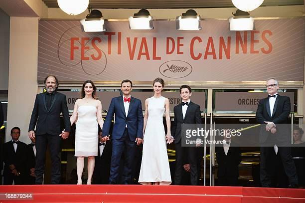 Actors Frederic Pierrot Geraldine Pailhas director Francois Ozon actors Marine Vactha Fantin Ravat and Cannes Film Festival artistic director Thierry...