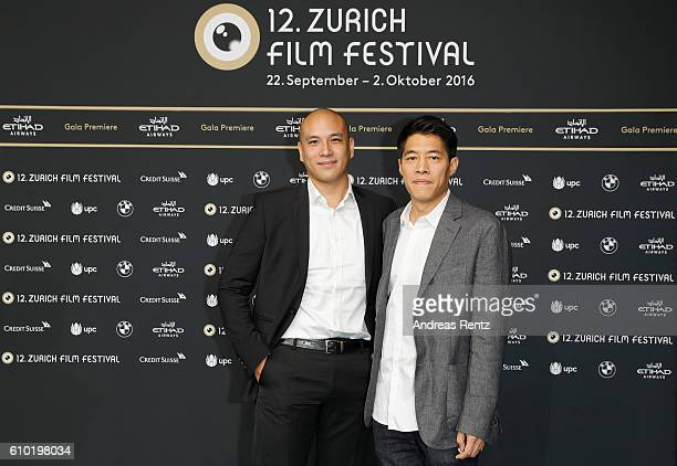 Actors Frederic Siuen and Francois Yang attend the 'L'ame Du Tigre' Photocall during the 12th Zurich Film Festival on September 24 2016 in Zurich...