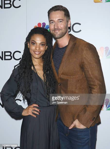 Actor Jerod Haynes and guest attend the party for the casts of NBC's 20182019 Season hosted by NBC and The Cinema Society at Four Seasons Restaurant...