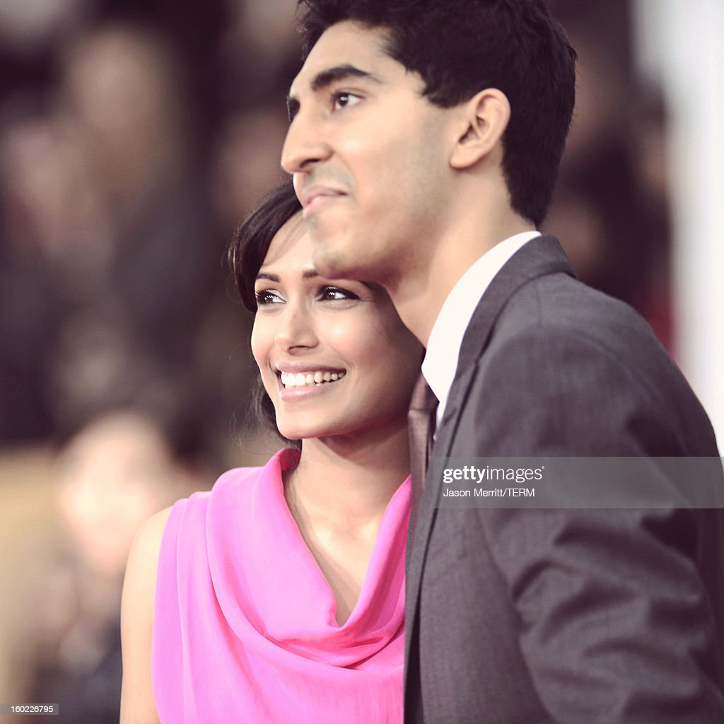 Actors Freida Pinto and Dev Patel attend the 19th Annual Screen Actors Guild Awards at The Shrine Auditorium on January 27, 2013 in Los Angeles, California. (Photo by Jason Merritt/WireImage) 23116_014_2887.JPG