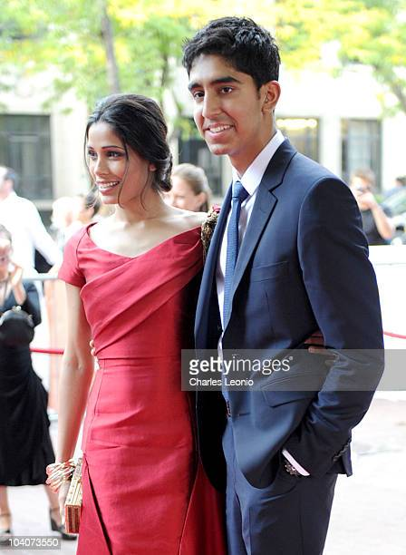 Actors Freida Pinto and Dev Patel attend the Miral Premiere held at Ryerson Theatre during the 35th Toronto International Film Festival on September...