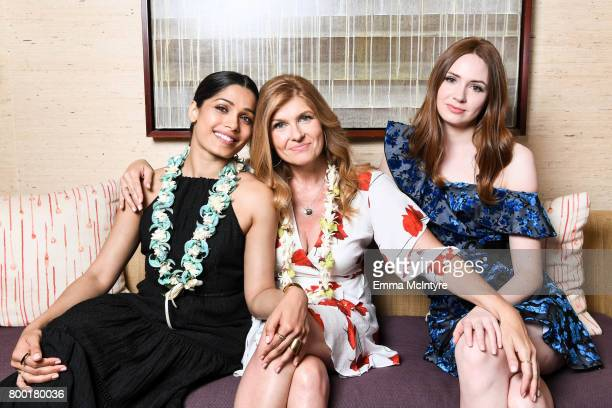 Actors Freida Pinto Connie Britton and Karen Gillan pose for a portrait during day two of the 2017 Maui Film Festival at Wailea on June 22 2017 in...