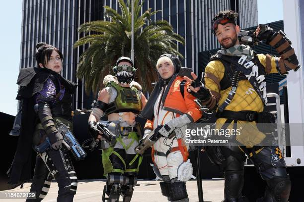 Actors from Apex Legends perform during EA Play 2019 at the Hollywood Palladium on June 08 2019 in Los Angeles California