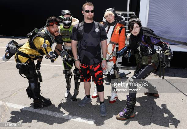 Actors from Apex Legends pose with fans during EA Play 2019 event at the Hollywood Palladium on June 08 2019 in Los Angeles California