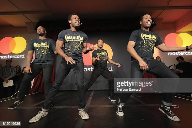 Actor's from Broadway's Beautiful The Carole King Musical perform at a MasterCard exclusive event Variety presents Broadway Tastes hosted by Neil...
