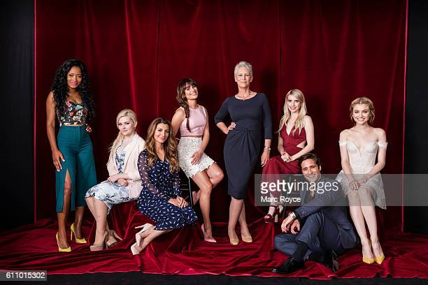 Actors from FOX's 'Scream Queens' Keke Palmer Abigail Breslin Skyler Samuels Emma Roberts Jamie Lee Curtis Lea Michele Diego Boneta and Nasim Pedrad...