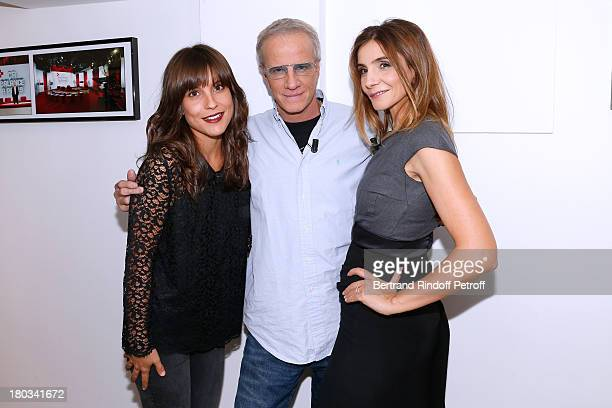 "Actors from France 2 TV series ""La Source"" Flore Bonaventura, Christophe Lambert and Princess of Savoy Clotilde Courau attends 'Vivement Dimanche'..."