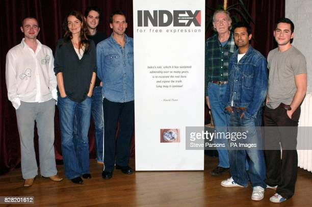 Paulo'Mahony Saffron Burrows Simon Bubb Christopher Eccleston David Warner Navin Chowdhry and Bruno Langley prepare for the forthcoming production of...