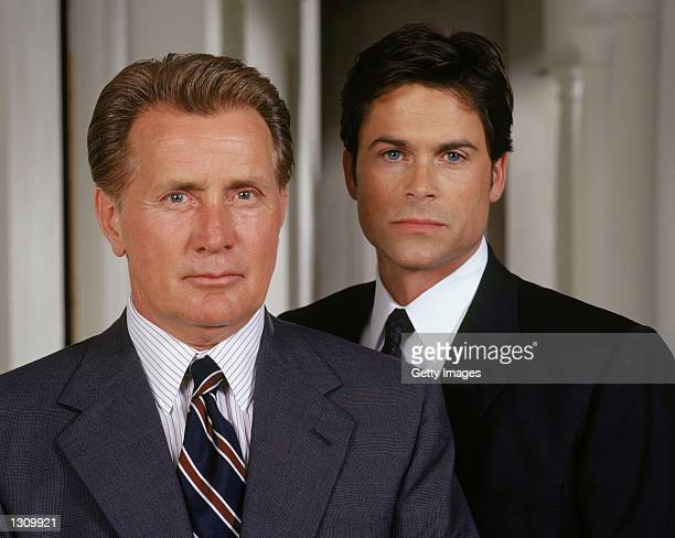 Actors from Martin Sheen stars as President Josiah Bartlet and Rob Lowe as Deputy Communications Director Sam Seaborn on NBC''s West Wing which airs...