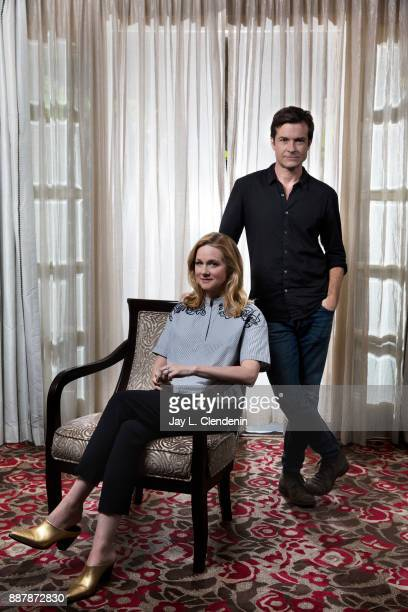 Actors from Netflix's 'Ozark' Jason Bateman and Laura Linney are photographed for Los Angeles Times on October 26 2017 in Los Angeles California...