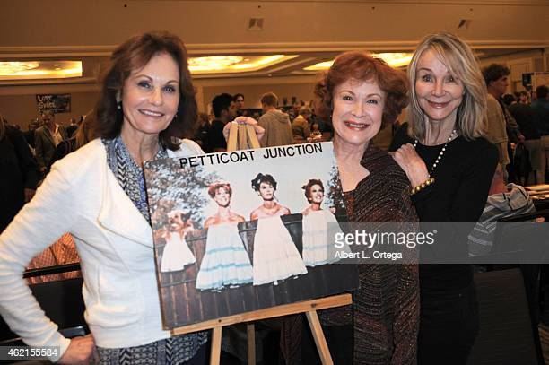 Actors from Petticoat Junction Lori Saunders Linda Henning and Gunilla Hutton at The Hollywood Show held at The Westin Hotel LAX on January 24 2015...