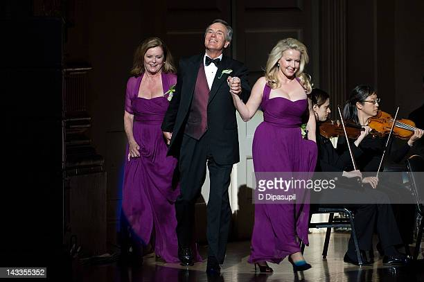 Actors from the 1965 Sound of Music film Heather Menzies Nicholas Hammond and Kym Karath make a special appearance on stage during the Sound Of Music...