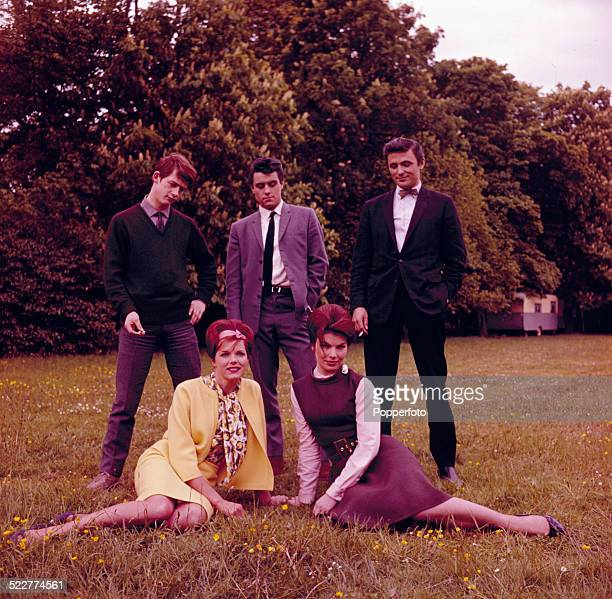 Actors from the film 'The Wild and the Willing' posed together in 1963 Clockwise from top left John Hurt Ian McShane Katherine Woodville and Samantha...