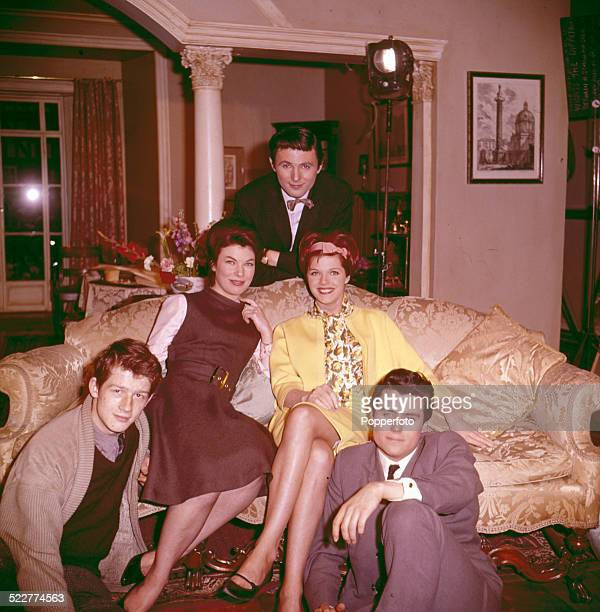 Actors from the film 'The Wild and the Willing' posed together in 1963 From left to right John Hurt Katherine Woodville Samantha Eggar and Ian McShane