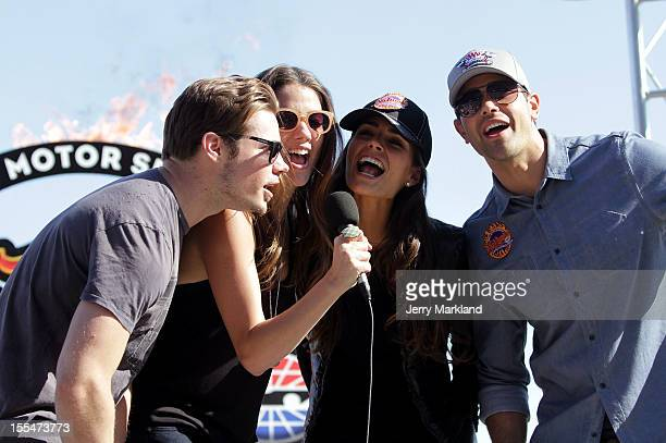 Actors from the TV show Dallas Josh Henderson Julie Gonzalo Jordana Brewster and Jesse Metcalfe give the command for the drivers to start their...