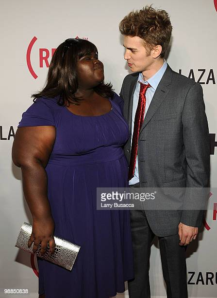 Actors Gabourey Sidibe and Hayden Christensen attend the New York premiere of The Lazarus Effect at The Museum of Modern Art on May 4 2010 in New...