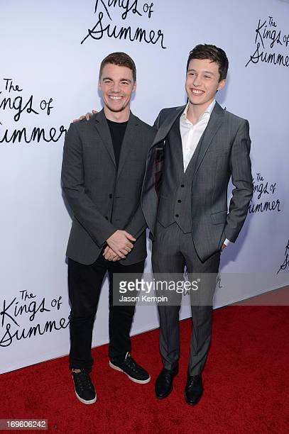 Actors Gabriel Basso and Nick Robinson arrive at the screening of CBS Films' The Kings of Summer at ArcLight Cinemas on May 28 2013 in Hollywood...