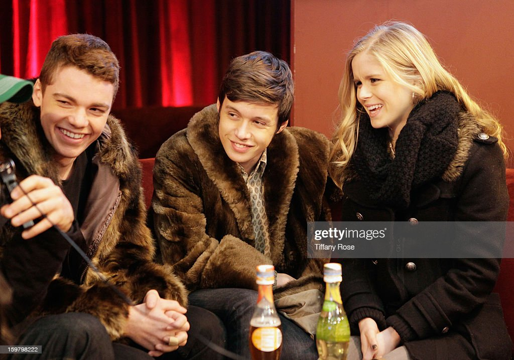 Actors Gabriel Basso, Nick Robinson and Erin Moriarty attend Day 3 of Tea of a Kind at Village At The Lift 2013 on January 20, 2013 in Park City, Utah.