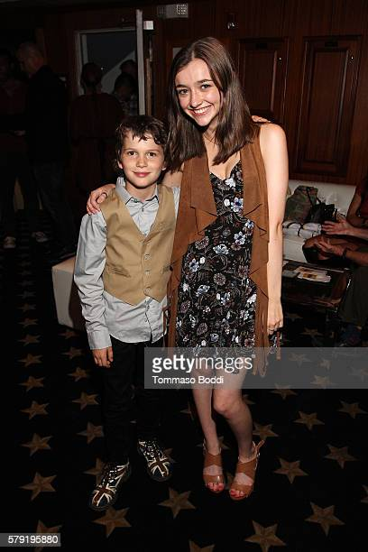 Actors Gabriel Bateman and Ashley Boettcher attend the IMDb Yacht Party Presented By TCL at on July 22 2016 in San Diego California