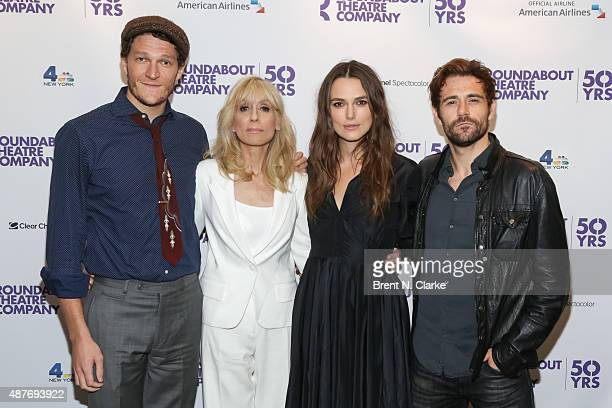 Actors Gabriel Ebert Judith Light Keira Knightley and Matt Ryan arrive for Roundabout's 50th anniversary season party held at the Roundabout Theatre...
