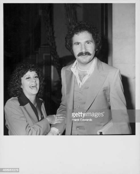 Actors Gabriel Kaplan and Lisa Mordente attending the American Broadcasting Corporation Party at Century Plaza Hotel California May 1976