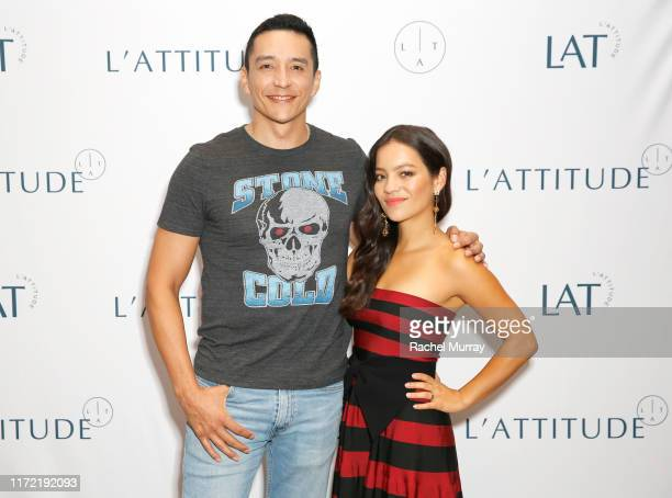 Actors Gabriel Luna and Natalia Reyes attend the screening and conversation of ÒTerminator Dark FateÓ panel during L'ATTITUDE at Manchester Grand...