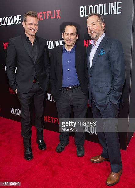 Actors Gabriel Macht Peter Jacobson and David Costabile attend the 'Bloodline' New York Series Premiere at SVA Theater on March 3 2015 in New York...