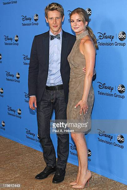 Actors Gabriel Mann and Emily VanCamp attend the Disney ABC Television Group's 2013 Summer TCA Tour at The Beverly Hilton Hotel on August 4 2013 in...