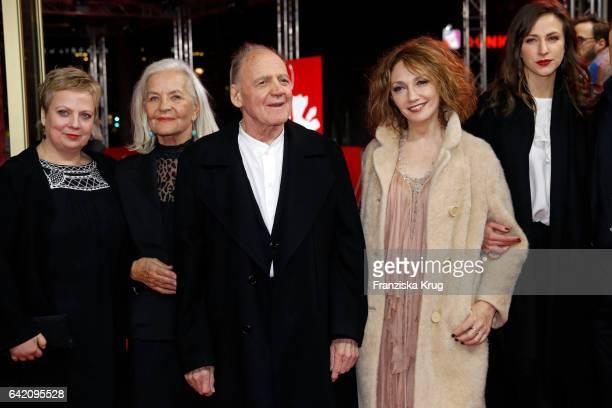 Actors Gabriela Maria Schmeidethe Hildegard Schmahl Bruno Ganz Evgenia Dodina Natalia Belitski attend 'In Times of Fading Light' premiere during the...