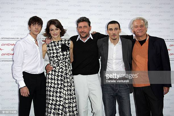 Actors Gabriele Campanelli Anita Kravos Sergio Castellitto director Alessandro Angelini and actor Giorgio Colangeli attend the 'Alza La Testa'...