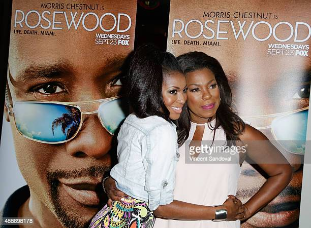 Actors Gabrielle Dennis and Lorraine Toussaint attend the screening of FOX TV's 'Rosewood' at Regal Cinemas LA Live on September 16 2015 in Los...