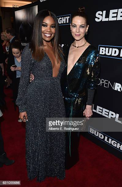 Actors Gabrielle Union and Michelle Monaghan attend the Premiere of Open Road Films' Sleepless at Regal LA Live Stadium 14 on January 5 2017 in Los...